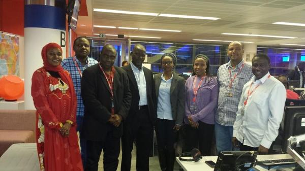 With the BBC Hausa Service team including producers: Ahmed Abba, Mansur Liman, Aichatou Moussa, Alhaji Diori Coulibaly etc, after my participation in the Focus on Africa TV Programme. 24 September 2014