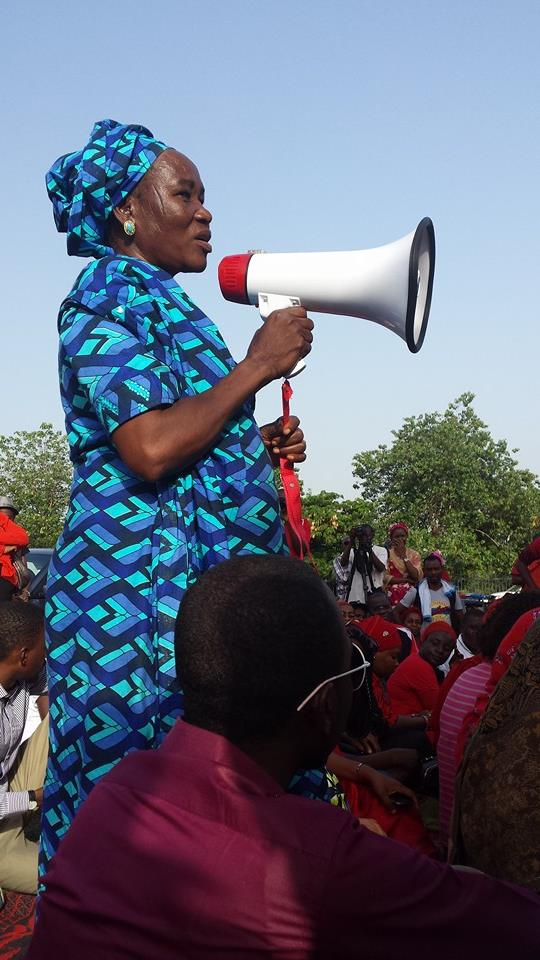 A school teacher from the Chibok community at the #BringBackOurGirls sit-out. Abuja, 1st May 2014. [Source: Personal photo collection]