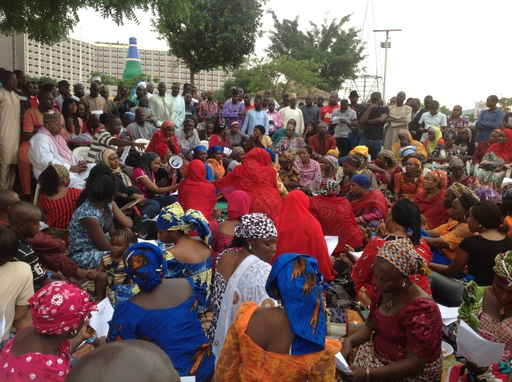 #BringBackOurGirls sit-out packed with protesters and some parents of the abducted Chibok girls. Abuja, 4th May 2014. [Source: Personal Photo Collection]