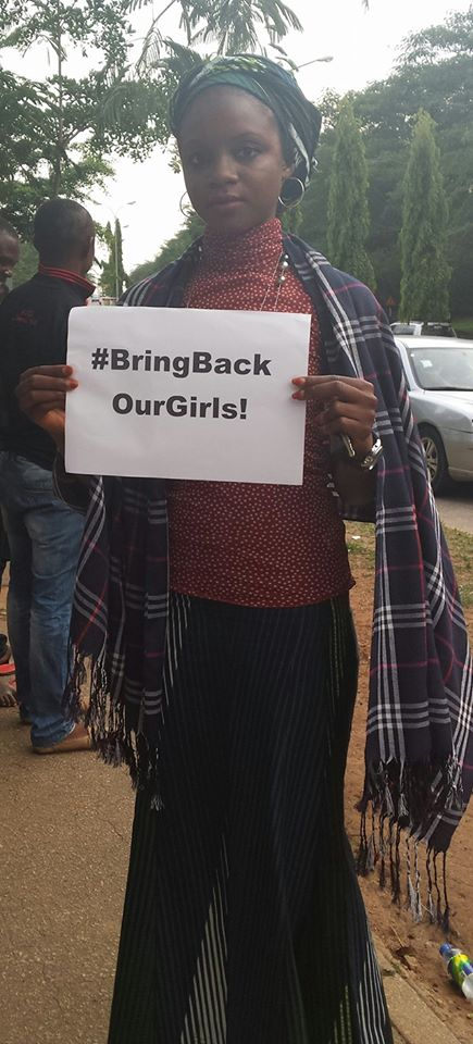 At the #BringBackOurGirls daily sit-out. Abuja, 10th May 2014. [Source: Personal Photo Collection]