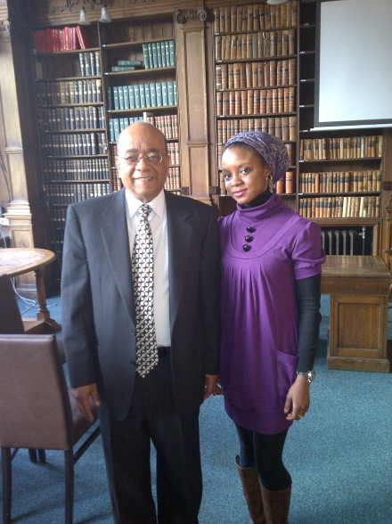 With British-born Sudanese billionaire, Mo Ibrahim, at The Oxford Union