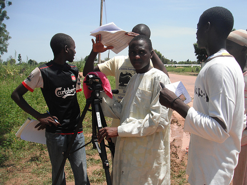 Some of the crew members of the movie. They are almajirai. Photo credit: Carmen McCain's Flickr photos