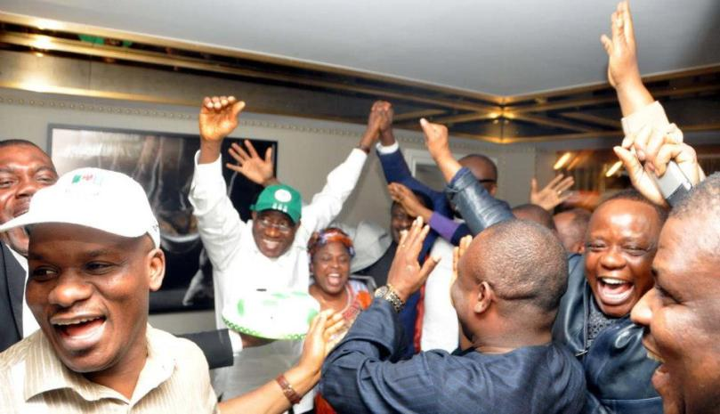 President Celebrates Victory