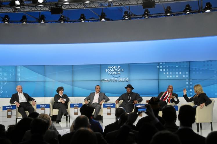 The WEF Panel on Derisking Africa. Photo credit: www.weforum.org