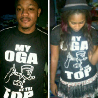 ...rockin' the T-shirts