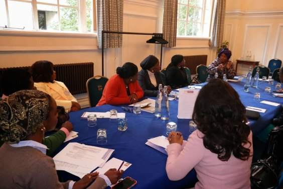 Moderating one of the discussion panels. Photo courtesy: Winihin Jemide Series