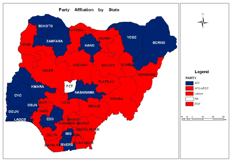 Landscape of party affiliations in Nigeria